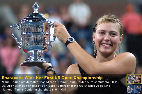 Maria Sharapova wins US Open 2006